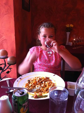 Annamars: My daughter enjoying her meal