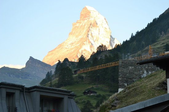 Unique Hotel Post: View of Matterhorn from room