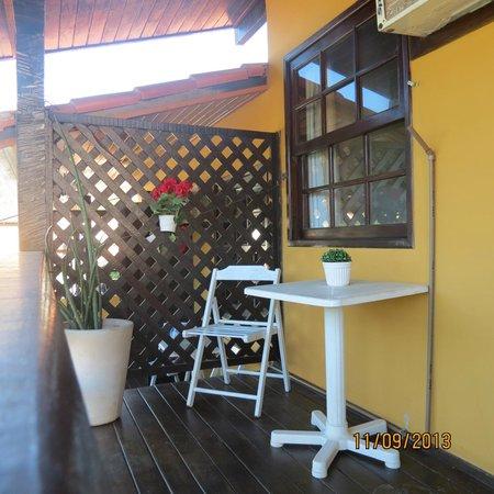 Pousada Kilandukilu: hermoso balcon!!