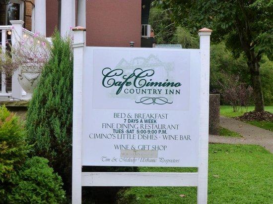 Cafe Cimino Country Inn Restaurant: Cafe Cimino Country Inn