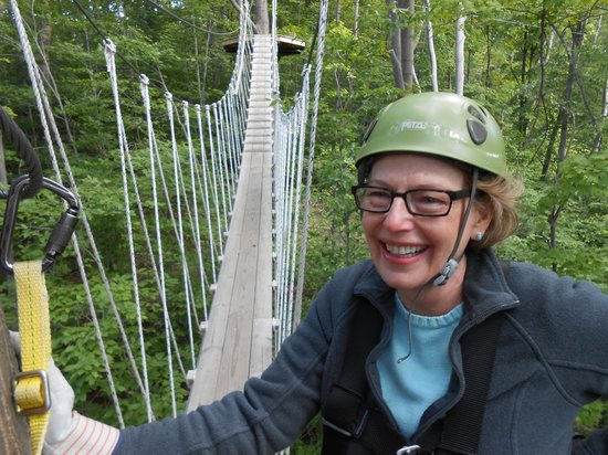 Wildwood Rush Zip Line Canopy Tour: Ready to cross one of the suspension bridges