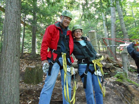 Wildwood Rush Zip Line Canopy Tour: Harnessed and ready to zip