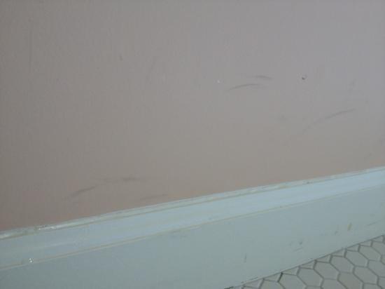 آشلاند سبرينجز هوتل: dirty walls everywhere