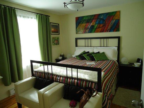 Gite Confort: Notre chambre pendant notre séjour