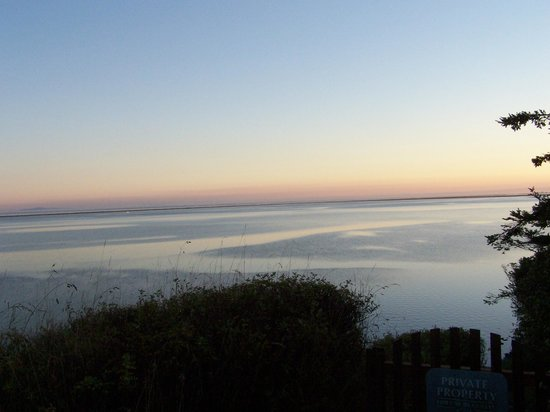 Dungeness Bay Cottages: View from our cottage.