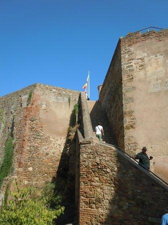 Castillo de Gibralfaro : remparts (vue externe)