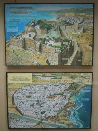Castillo de Gibralfaro : Plan du site (musée)