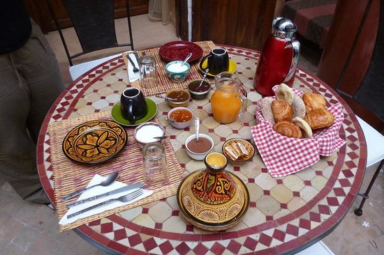 Ryad Dar Ganou : el desayuno