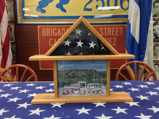 Bay of Pigs Museum: Flag from Naval Base Guantanamo