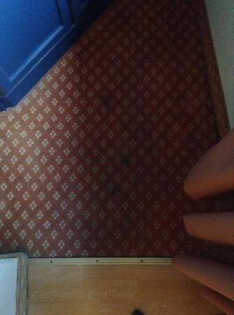 Hotel Markgräfler Hof: flecken auf dem teppich vor dem schrank