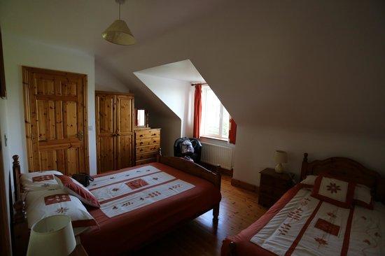 Loughrask Lodge Bed and Breakfast : Room, ensuite behind the closed door