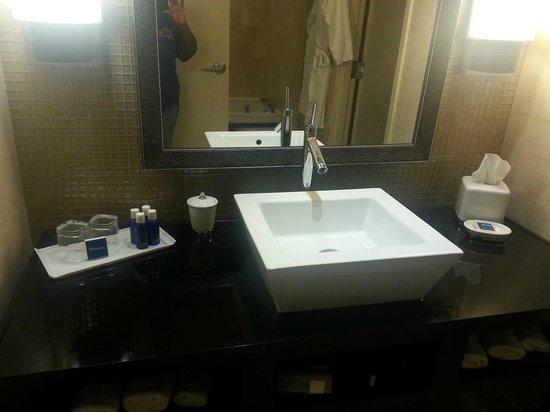 MotorCity Casino Hotel: Unusual sink in the bathroom.
