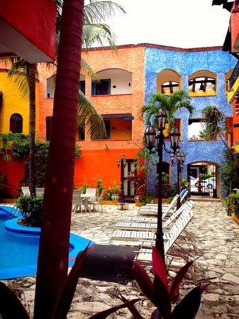 Hotel Hacienda Maria Bonita: Vista desde la habitación 111