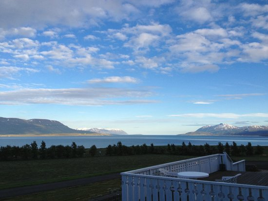 Sveinbjarnagerdi: The view from the porch