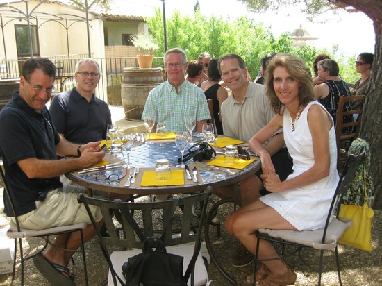 La Madelene : at lunch during our wine tour