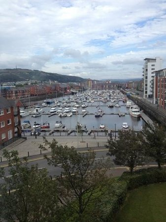 Swansea Marriott Hotel: the view from our room of the harbour