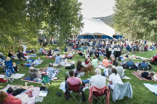 Aspen Music Festival and School: Seating on the David Karetsky Memorial Lawn outside the Tent is always free.