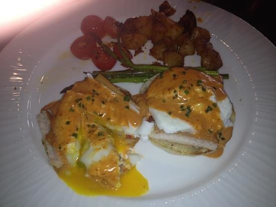 Rev: smoked trout eggs Benedict