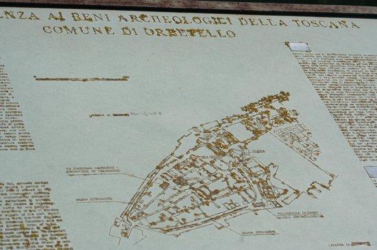Laguna di Orbetello: Mappa di Orbetello....