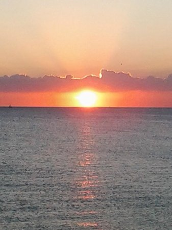 Seaside Beach Resort: just one of the beautiful sunsets we were able to see
