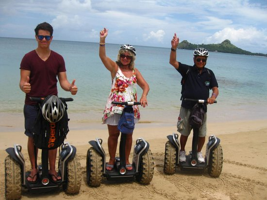 St. Lucian by Rex Resorts: Segway on the Beach