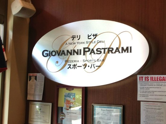 Giovanni Pastrami: Giovanni's sign