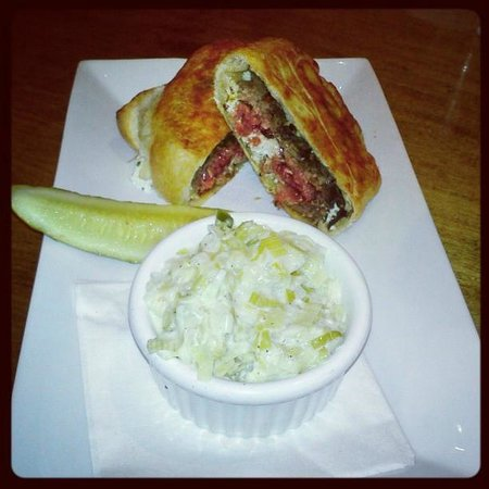 80/20 Burger Bar: Redneck Wellington with creamed leeks