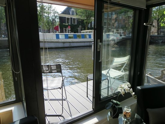 The Guest-Houseboat: View of terrace