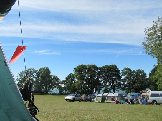 Waverley Park: View from tent