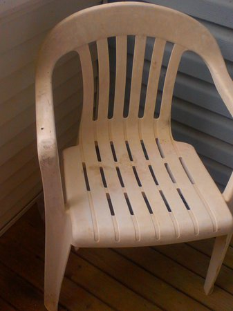 Fairview Beachfront Inn & Waterpark: one filthy chair on balcony, that was surrounded by spider webs.