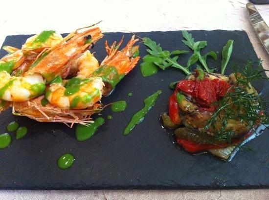 Restaurant Le Parvis: prawns