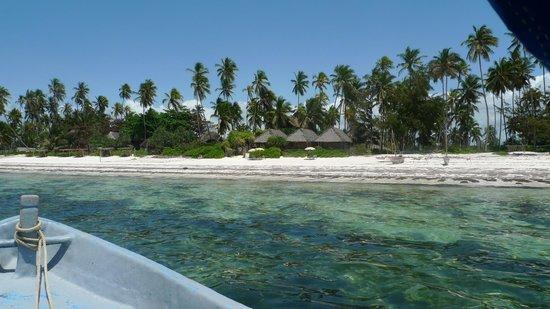 Matemwe Bandas Boutique Hotel, Zanzibar: View of the bandas from the sea