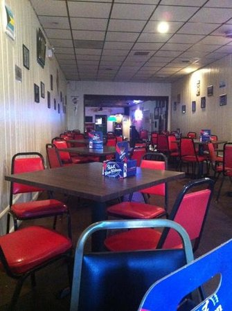 Sharpsburg, Pensylwania: the restaurant half