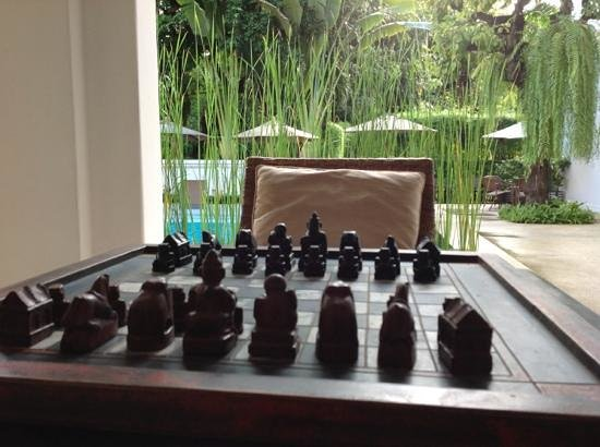 Ping Nakara Boutique Hotel & Spa : Chess on the verandah in the common areas