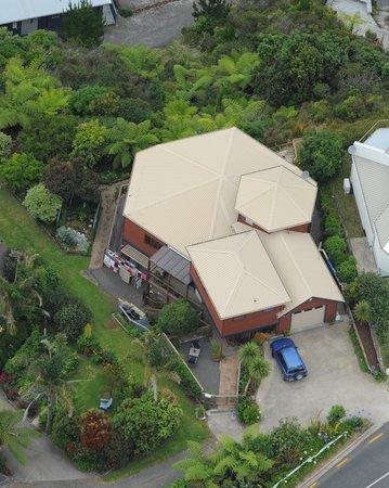 Coastal Heights Apartment: Aerial view of 205 Paku Drive Tairua