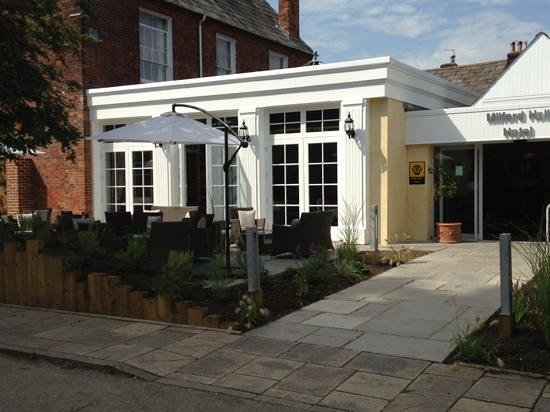 Milford Hall Hotel: Smart new entrance and terrace