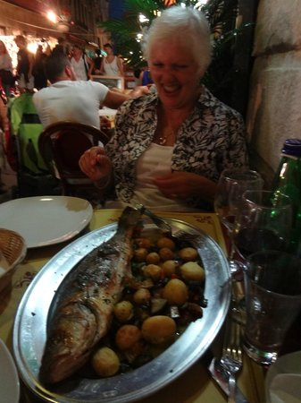 All'Aquila: A very tasty well prepared whole fish at