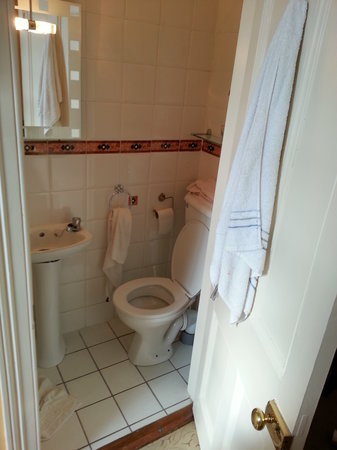 The Saddlers House and the Old Rectory: tiny bathroom