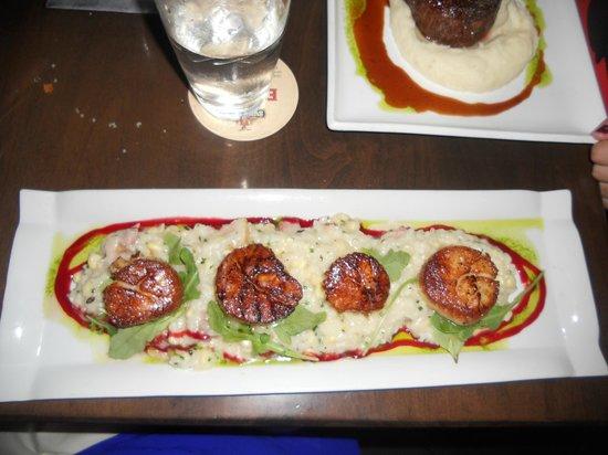 Ocean : Scallops and Corn/Bacon Risotto