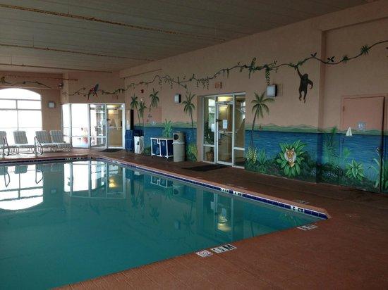 EconoLodge Oceanfront Ocean City: Indoor pool area