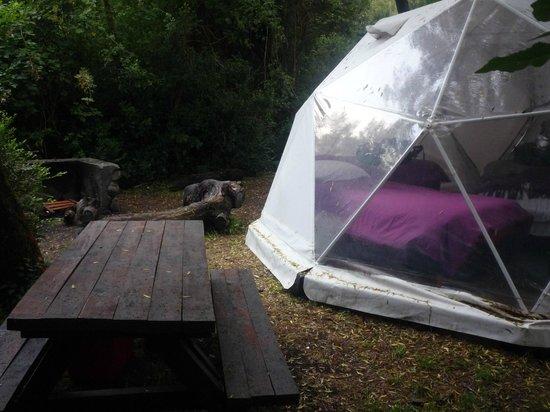 Rio Arrayanes Campamento Agreste: Domo desde afuera