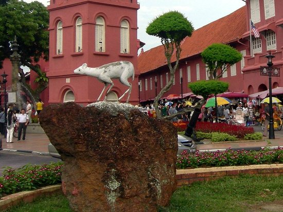 Red Square (Dutch Square): Kancil of traditional folklore in Malay culture.