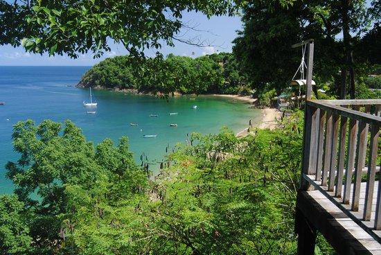 Castara Retreats: View of BIg Bay from Coasthanger