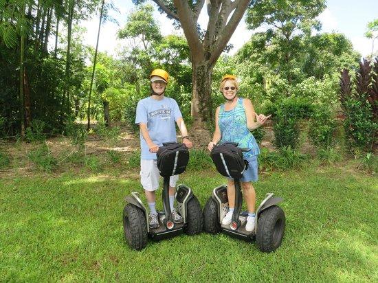 "Segway Off Road at Botanical World Adventures: Two ""kids"" having a BLAST at World Botanical Gardens' Segway Tour!"