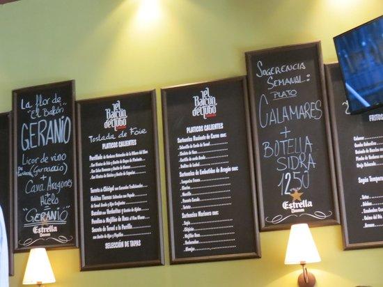 Taberna El Balcon del Tubo : Posibilidades