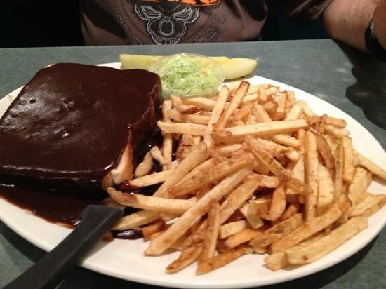 Elgin Street Diner: hot hamburger