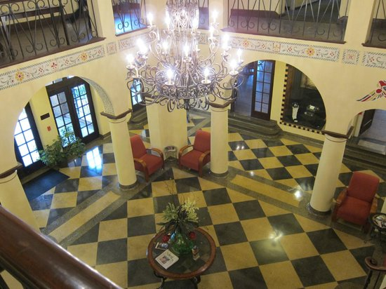 1929 Hotel Seville: Entryway from 2nd story - main vestibule