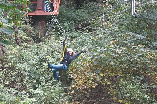 Canopy Tours Northwest: Dani's Fabulous Pose