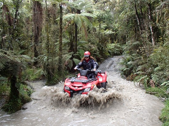 Across Country Quad Bikes: Loved the puddles!