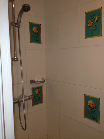 L'Aubiniere : Bathroom with old tiles